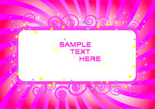 Vector Illustration Of A Banner In Pink Color. Royalty Free Stock Photos