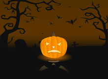 Vector Illustration Of A Scary Pumpkin Stock Images
