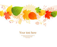 Vector Illustration Of Autumn Leafs Back Royalty Free Stock Photo