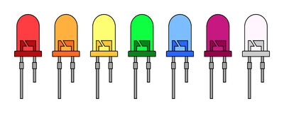Free Vector Illustration Of Colored LEDs Collection On White Background Stock Photo - 207182680