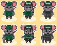 Free Vector Illustration Of Cute Mouse Soldier Cartoon Royalty Free Stock Images - 214523449