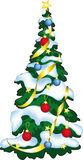 Vector Illustration Of Decorated Christmass Tree. Stock Photo