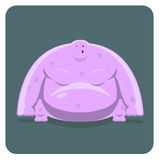 Vector Illustration Of Funny Pink Monster Royalty Free Stock Photography