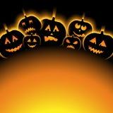 Vector Illustration Of Halloween Background With Pumpkin Stock Photo