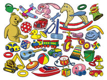 Free Vector Illustration Of Hand Drawn Toys Stock Photography - 20709432