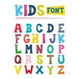 Vector Illustration Of Kids Font Design Stock Photos