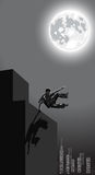 Vector Illustration Of Night Urban Parkour Royalty Free Stock Photography