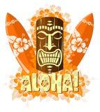 Vector Illustration Of Orange Tiki Mask Royalty Free Stock Photography