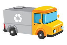 Free Vector Illustration Of Recycling Truck Royalty Free Stock Photography - 119920947