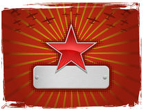 Vector Illustration Of Red Grungy Star Stock Photos