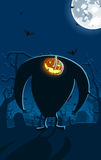 Vector Illustration Of Scary Jack-o-lantern Man Stock Images