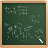 Vector Illustration Of School Board Stock Images