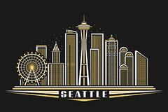 Free Vector Illustration Of Seattle Stock Photography - 215072452