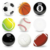 Vector Illustration Of Sport Balls Royalty Free Stock Photography