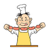 Vector Illustration Of The Cook Royalty Free Stock Images