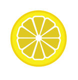 Vector Illustration Of The Segment Of The Lemon Royalty Free Stock Photography