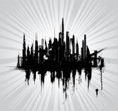 Vector Illustration Of Urban Skylines Stock Photos
