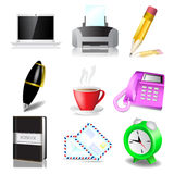 Office and document icon set Royalty Free Stock Images