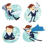Vector Illustration Office man set Royalty Free Stock Images