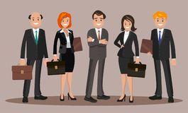 Vector illustration of office staff. Royalty Free Stock Image