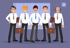 Vector illustration of office staff. Stock Image