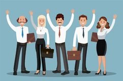 Vector illustration of office staff. Royalty Free Stock Photos