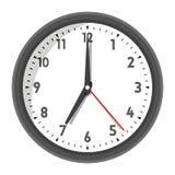 Vector illustration of office wall clock stock illustration