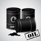 Vector illustration of  oil barrels Stock Images