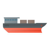 Vector illustration oil tanker, flat design. Stock Photography