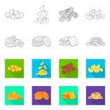 Vector design of Oktoberfest and bar icon. Collection of Oktoberfest and cooking vector icon for stock. Vector illustration of Oktoberfest and bar symbol. Set royalty free illustration