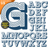 Vector illustration of an old fashioned alphabet Stock Images