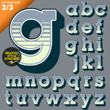 Vector illustration of an old fashioned alphabet. Vintage style. Deco filled Stock Images