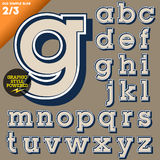 Vector illustration of an old fashioned alphabet. Vintage style. Simple outlined Royalty Free Stock Photos