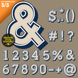 Vector illustration of an old fashioned alphabet. Vintage style. Simple outlined Stock Images