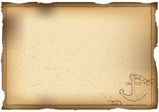 Old paper background with anchor stock illustration