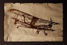 Vector illustration of old plane Royalty Free Stock Photography