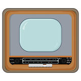 Vector illustration of old TV set. Vector illustration of an old TV set with wooden case vector illustration