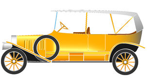 Vector illustration of old vintage car. Royalty Free Stock Images