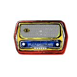 Old vintage radio. Vector illustration of the old vintage radio Royalty Free Stock Photography