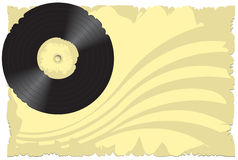 Vector illustration, old vinyl Stock Images