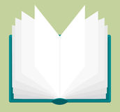 Open book with pages being browsed Royalty Free Stock Photography