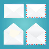 Vector illustration of open and closed envelopes. Royalty Free Stock Images