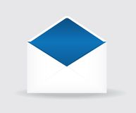 Vector illustration of open postal envelope Stock Photography