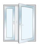 Vector illustration of an open window Stock Image