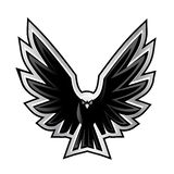 Vector illustration of a open wings eagle vector illustration