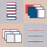 Vector illustration of opened books Stock Image