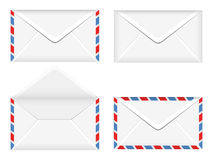 Vector illustration of opened and closed envelopes Royalty Free Stock Images