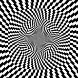 Vector illustration of optical illusion black and white background Stock Photo