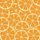 Orange. Vector illustration of the Orange background from slices of juicy oranges Royalty Free Stock Photos