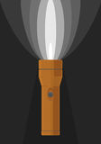 Vector illustration of orange flashlight Stock Photos